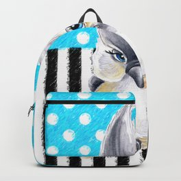 Titmouse Polka Blue Backpack