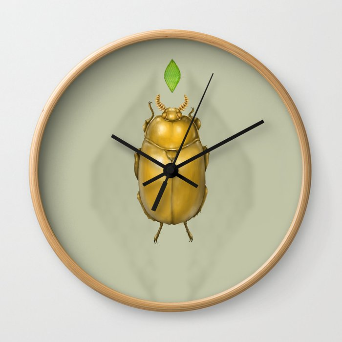Gold bug Wall Clock