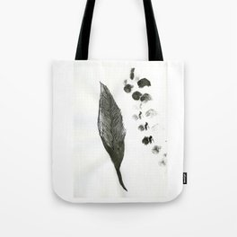 feather and finger prints Tote Bag