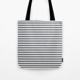 Sailor Stripes Black & White Tote Bag