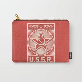 star, crossed hammer and sickle - ussr poster (socialism propaganda) Carry-All Pouch