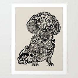 Polynesian Dachshund Art Print