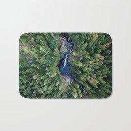 königssee waterfall alps bayern forrest drone aerial shot nature wanderlust vertical Bath Mat
