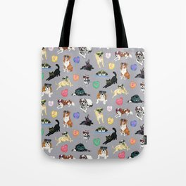 Valentine's Day Candy Hearts Puppy Love - Grey Tote Bag
