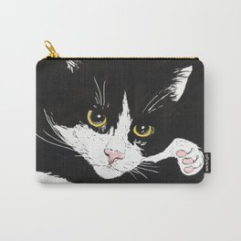 Black and white cat Carry-All Pouch