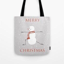 Snowman yoga - Warrior II Tote Bag