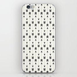 Modern simple black white bohemian arrows iPhone Skin