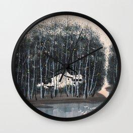 Wu Guanzhong 'Village in the Woods' - 吴冠中 树林村 Wall Clock