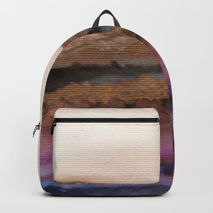 Watercolor abstract landscape 19 Backpack