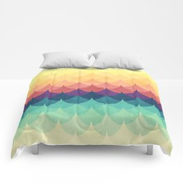Sailing in Rainbow Waves Comforters