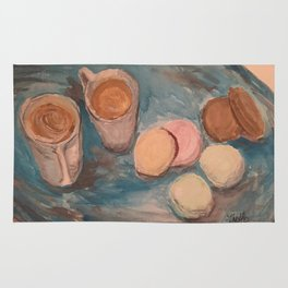 Cafe Au lait and French Macrons Rug