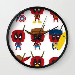 PURE DEAD POOL Wall Clock