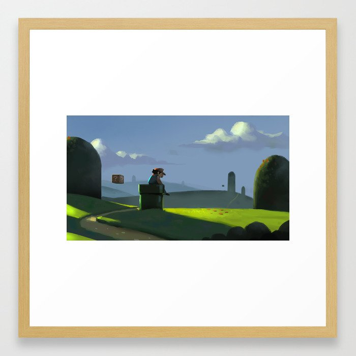 The Contemplative Plumber Framed Art Print