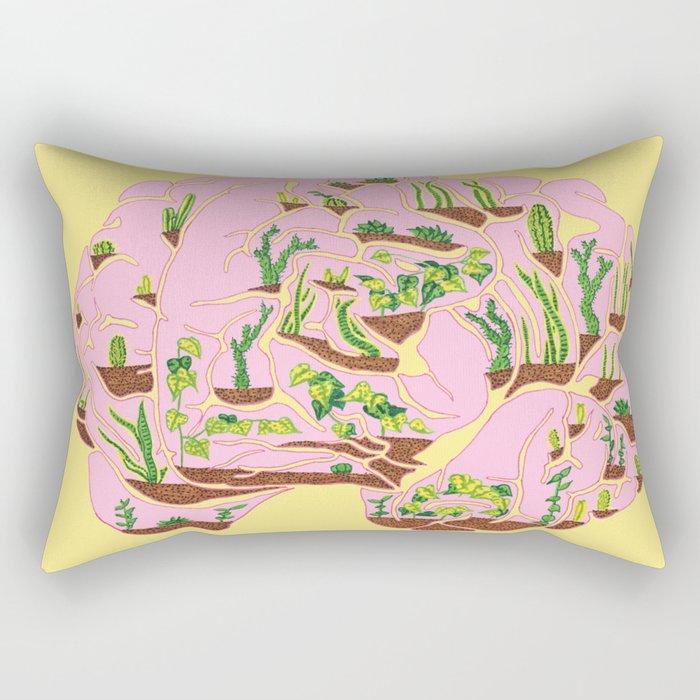 Brain Terrarium Rectangular Pillow