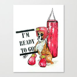 I'm ready to go! (For Laika) Canvas Print