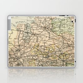 Old and Vintage Map of Germany Outline Laptop & iPad Skin