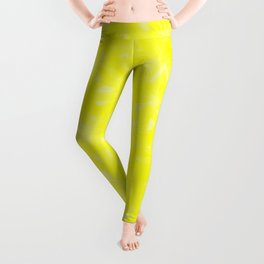 Yellow Abstract Leggings