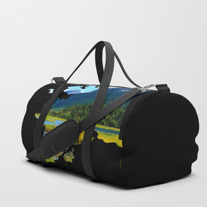 Alaska Outline - God's Country Duffle Bag