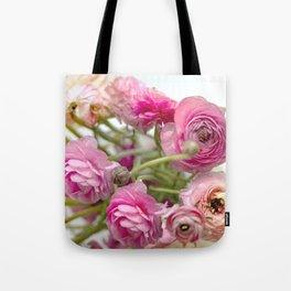 Pink Ranucula Tote Bag