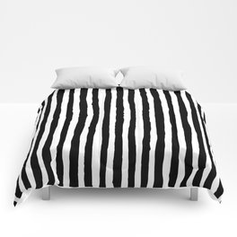 Black and White Vertical Stripes Comforters