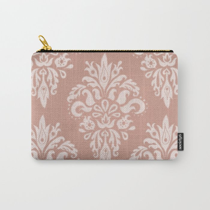 Rose Gold Vintage Pattern Carry-All Pouch