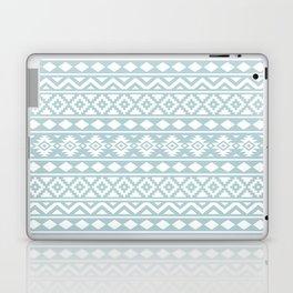 Aztec Essence Ptn III White on Duck Egg Blue Laptop & iPad Skin