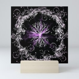 Tree of Life, Purple Universe, Cosmic Tree Mini Art Print