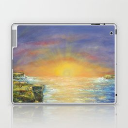Gozo island, Malta. Malta sunset seascape Laptop & iPad Skin