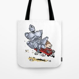 Iron Giant & Hogarth Tote Bag