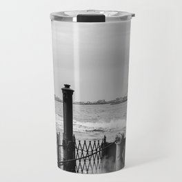 Liberty from the back of The Boat Travel Mug