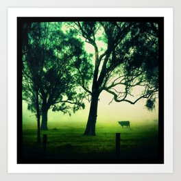 Cow in the Mist Art Print