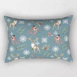Xmas Pattern Teal #socieyt6 #buyart Rectangular Pillow