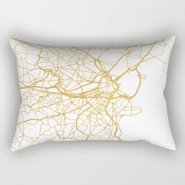BOSTON MASSACHUSETTS CITY STREET MAP ART Rectangular Pillow