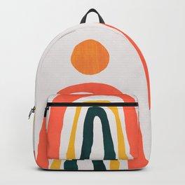 Sunrise over rainbow hill Backpack