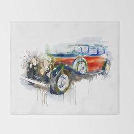 Vintage Automobile Throw Blanket