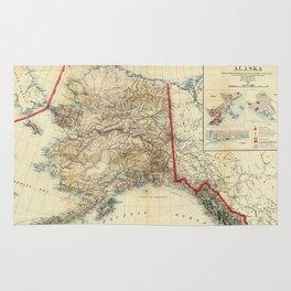 Vintage Map of Alaska (1906) Rug