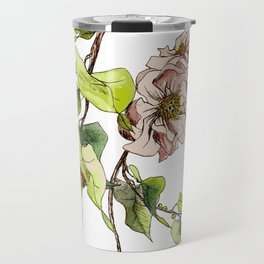Camellia Inspired Flower Branch Travel Mug