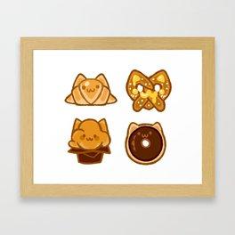 bakery kitties Framed Art Print