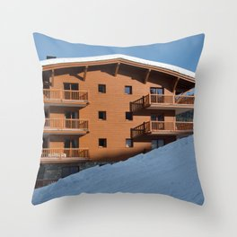 Mountain chalet, holiday home Throw Pillow