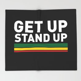 Get Up Stand Up / Rasta Vibrations Throw Blanket