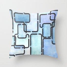 Office Blues Throw Pillow