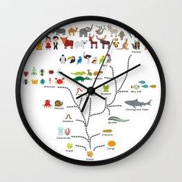 Evolution scale from unicellular organism to mammals. Evolution in biology, scheme evolution Wall Clock