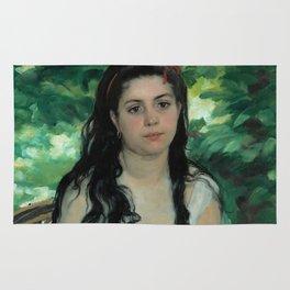 "Auguste Renoir ""En été - La bohémienne (In summer - Gypsy woman)"" Rug"