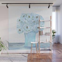 Boho still life flowers in vase Wall Mural