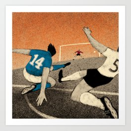 History of Football - 1982 Art Print