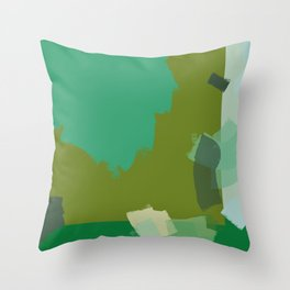 Ode to green 3 Throw Pillow