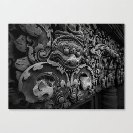 Demon BW Canvas Print