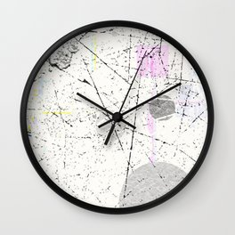 Abstract White with light pastel geometrical pattern Wall Clock
