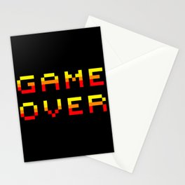 Game over Stationery Cards