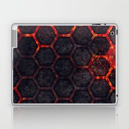 Lava Hexagons Laptop & iPad Skin